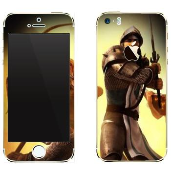 Виниловая наклейка «Drakensang Knight» на телефон Apple iPhone 5