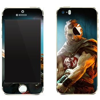 Виниловая наклейка «Drakensang warrior» на телефон Apple iPhone 5