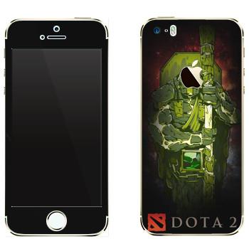 Виниловая наклейка «Дух Земли - Dota 2» на телефон Apple iPhone 5
