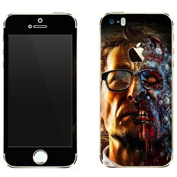 Виниловая наклейка «Dying Light  - профессор зомби» на телефон Apple iPhone 5