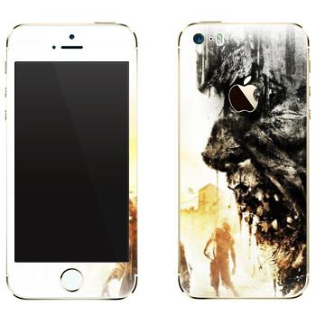 Виниловая наклейка «Dying Light арт» на телефон Apple iPhone 5