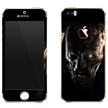 Виниловая наклейка «Dying Light глаза зомби» на телефон Apple iPhone 5