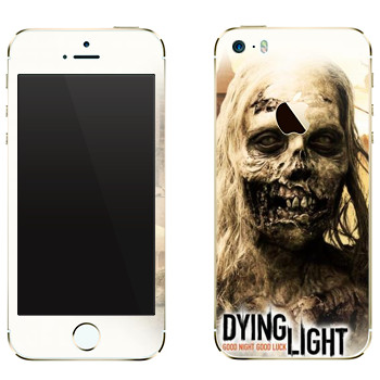 Виниловая наклейка «Dying Light женщина-зомби» на телефон Apple iPhone 5