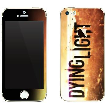 Виниловая наклейка «Dying Light лого» на телефон Apple iPhone 5