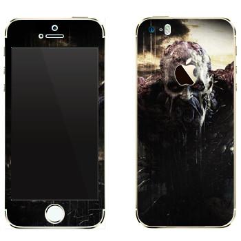 Виниловая наклейка «Dying Light страшный зомби» на телефон Apple iPhone 5