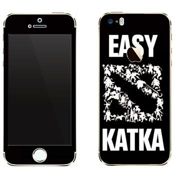 Виниловая наклейка «Easy Katka белый» на телефон Apple iPhone 5