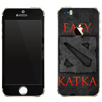 Виниловая наклейка «Easy Katka черный» на телефон Apple iPhone 5