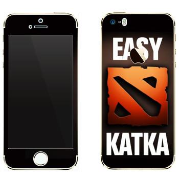 Виниловая наклейка «Easy Katka красный» на телефон Apple iPhone 5