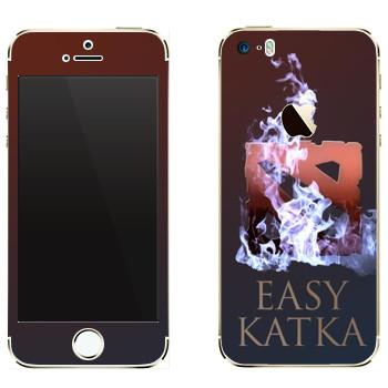 Виниловая наклейка «Easy Katka огонь» на телефон Apple iPhone 5