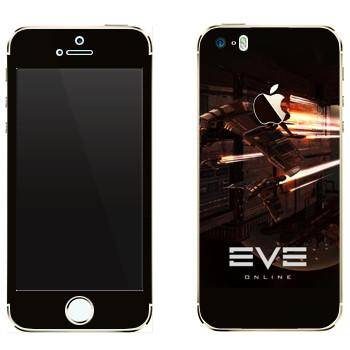 Виниловая наклейка «EVE армада красный» на телефон Apple iPhone 5