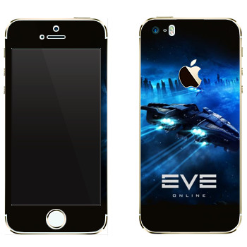 Виниловая наклейка «EVE космический корабль» на телефон Apple iPhone 5