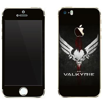 Виниловая наклейка «EVE Валькирия» на телефон Apple iPhone 5