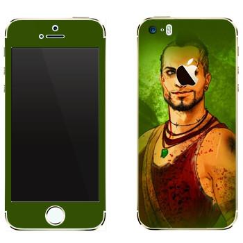 Виниловая наклейка «Far Cry 3 - Вас Монтенегро» на телефон Apple iPhone 5