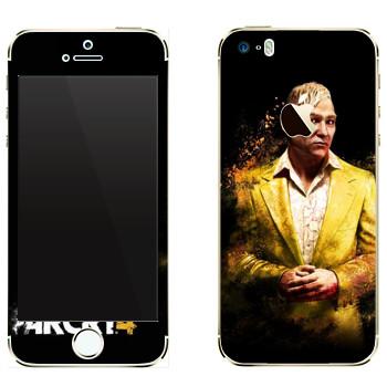 Виниловая наклейка «Far Cry 4 - Пэйган в желтом костюме» на телефон Apple iPhone 5