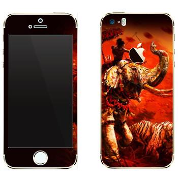 Виниловая наклейка «Far Cry 4 - слон и тигр» на телефон Apple iPhone 5