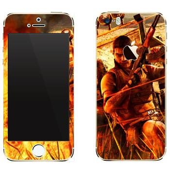 Виниловая наклейка «Far Cry борьба» на телефон Apple iPhone 5