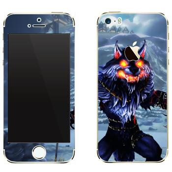 Виниловая наклейка «Fenrir : Smite Gods» на телефон Apple iPhone 5