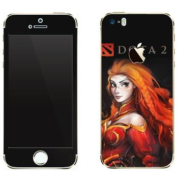 Виниловая наклейка «Лина - огненная ярость» на телефон Apple iPhone 5