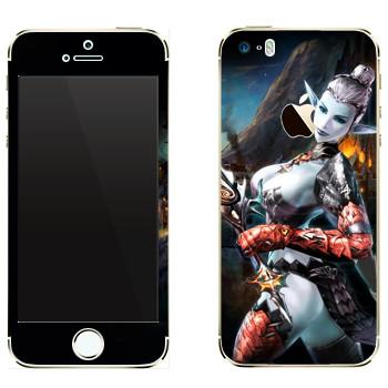 Виниловая наклейка «Lineage Темный эльф мистик» на телефон Apple iPhone 5
