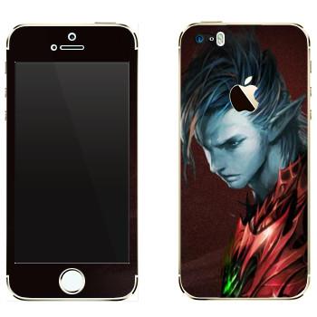 Виниловая наклейка «Lineage Темный эльф воин» на телефон Apple iPhone 5