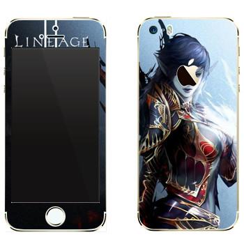 Виниловая наклейка «Lineage Темный эльф» на телефон Apple iPhone 5