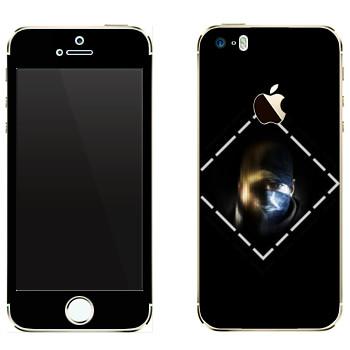 Виниловая наклейка «Лицо - Watch Dogs» на телефон Apple iPhone 5