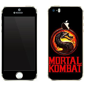 Виниловая наклейка «Mortal Kombat игра» на телефон Apple iPhone 5