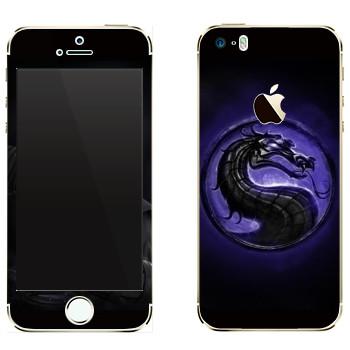 Виниловая наклейка «Mortal Kombat логотип» на телефон Apple iPhone 5