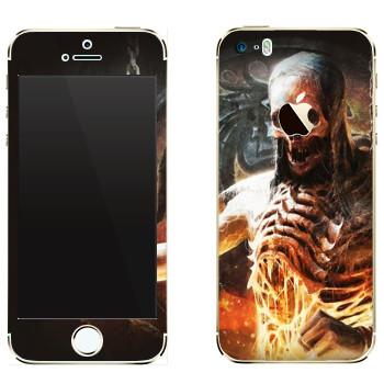 Виниловая наклейка «Mortal Kombat Скелет» на телефон Apple iPhone 5