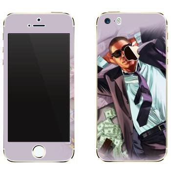 Виниловая наклейка «Мужик с деньгами - GTA 5» на телефон Apple iPhone 5
