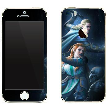 Виниловая наклейка «Neverwinter бой» на телефон Apple iPhone 5
