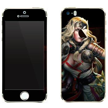 Виниловая наклейка «Neverwinter Девушка-эльф» на телефон Apple iPhone 5