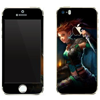 Виниловая наклейка «Neverwinter Зеленый Эльф» на телефон Apple iPhone 5