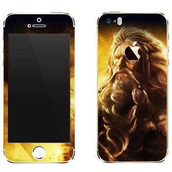 Виниловая наклейка «Odin : Smite Gods» на телефон Apple iPhone 5