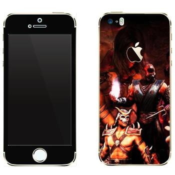 Виниловая наклейка «Персонажи Mortal Kombat» на телефон Apple iPhone 5