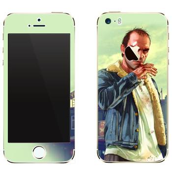 Виниловая наклейка «После драки - GTA 5» на телефон Apple iPhone 5