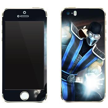 Виниловая наклейка «Саб-Зиро Mortal Kombat» на телефон Apple iPhone 5
