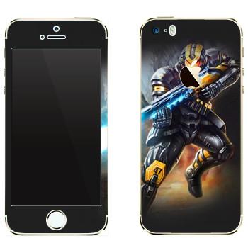 Виниловая наклейка «Shards of war Блиц» на телефон Apple iPhone 5