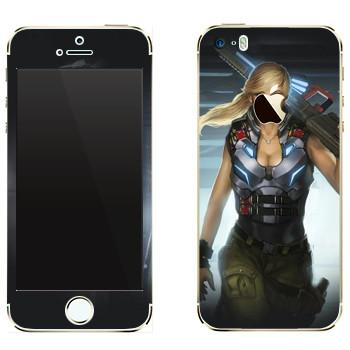 Виниловая наклейка «Shards of war Джемини» на телефон Apple iPhone 5