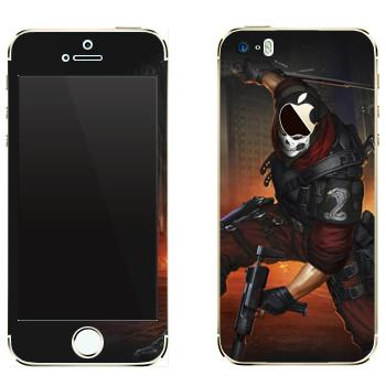 Виниловая наклейка «Shards of war Кобра» на телефон Apple iPhone 5