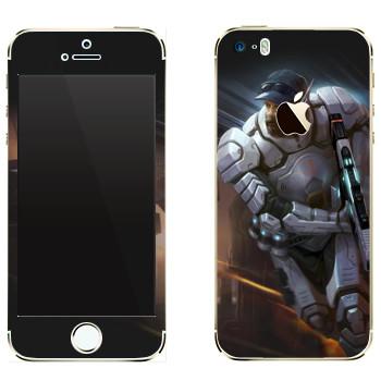 Виниловая наклейка «Shards of war Страйкер» на телефон Apple iPhone 5
