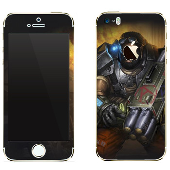 Виниловая наклейка «Shards of war Warhead» на телефон Apple iPhone 5