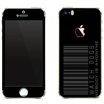 Виниловая наклейка «Штрихкод - Watch Dogs» на телефон Apple iPhone 5
