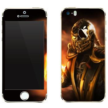 Виниловая наклейка «Скорпион Mortal Kombat» на телефон Apple iPhone 5