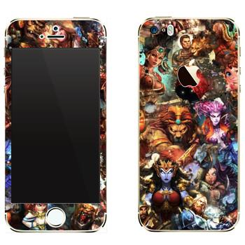 Виниловая наклейка «Smite : Все боги» на телефон Apple iPhone 5