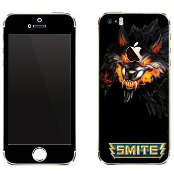 Виниловая наклейка «Smite Wolf» на телефон Apple iPhone 5