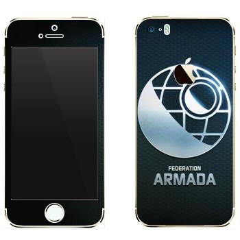 Виниловая наклейка «Star conflict Armada» на телефон Apple iPhone 5