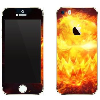 Виниловая наклейка «Star conflict Fire» на телефон Apple iPhone 5