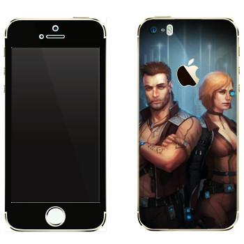 Виниловая наклейка «Star Conflict Солдаты» на телефон Apple iPhone 5
