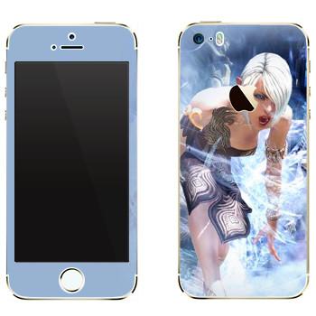 Виниловая наклейка «Tera Elf cold» на телефон Apple iPhone 5